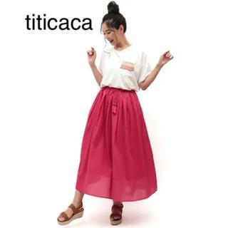 チチカカ(titicaca)のインド製★TITICACA カラーボイルマキシスカート(ロングスカート)