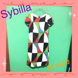シビラ(Sybilla)のsybilla☆シビラパッチワークワンピース(ひざ丈ワンピース)