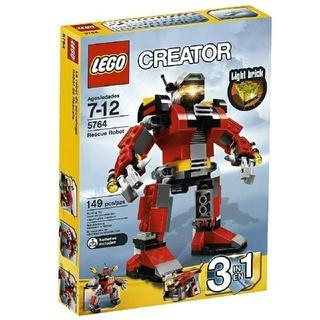 レゴ(Lego)のレゴ★クリエイター レスキューロボット 5764 USED 人気 激レア(知育玩具)