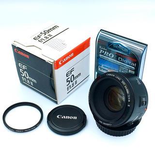 キヤノン(Canon)のCanon EF50mm f1.8 Ⅱ 単焦点レンズ 保護フィルターセット(レンズ(単焦点))