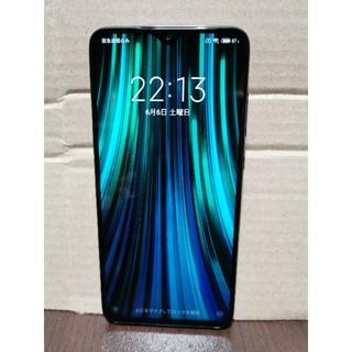アンドロイド(ANDROID)のミドルレンジゲーミングスマホ★Xiaomi Redmi Note 8 PRO(スマートフォン本体)