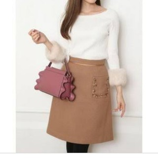 Apuweiser-riche - アプ♡ポケット刺繍スカート ビジュースカート