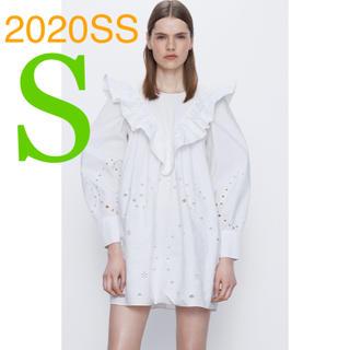 ZARA - *2020SS*ZARA フリルトリム付き カットワーク ワンピース