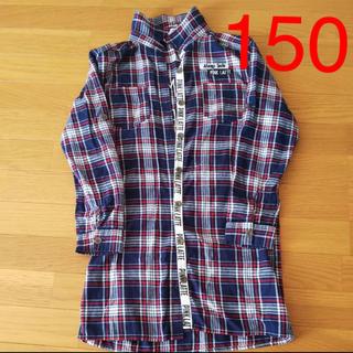 ピンクラテ(PINK-latte)の長袖切り替えシャツ(Tシャツ/カットソー)