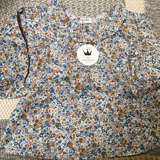 ザラキッズ(ZARA KIDS)の襟つき 花柄 トップス (Tシャツ/カットソー)