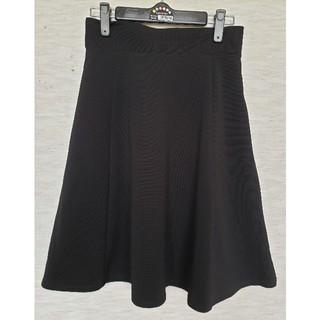 GU - 【GU】 膝丈 フレアスカート 黒