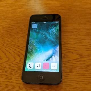 アイフォーン(iPhone)のiPhone5 16GB black SIMフリー(スマートフォン本体)