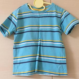 ニシマツヤ(西松屋)のキッズ ボーダーTシャツ 水色 100cm(Tシャツ/カットソー)