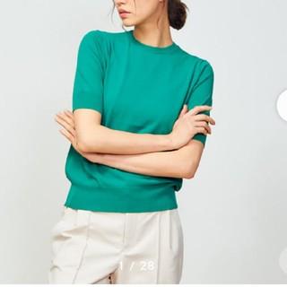 DEUXIEME CLASSE - 5分袖ニットプルオーバーTシャツ