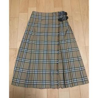 バーバリー(BURBERRY)の美品 バーバリー ロングスカート プリーツスカート ノバチェック 40(ロングスカート)