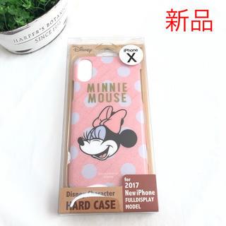 ディズニー(Disney)の新品 ミニーちゃん iPhoneX iPhoneXS ハードケース かわいい(iPhoneケース)