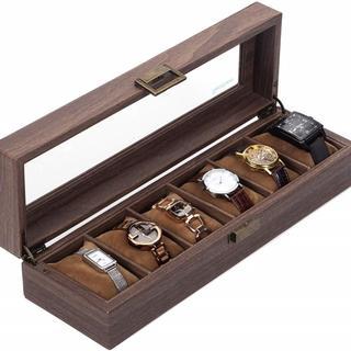 腕時計 収納ケース 6本用 木目(ケース/ボックス)