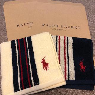 POLO RALPH LAUREN - ラルフローレン タオルハンカチ二枚セット