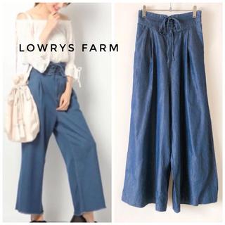 LOWRYS FARM - 【試着のみ✨】LOWRYS FARMコルセットデニムワイドパンツ ハイウエスト