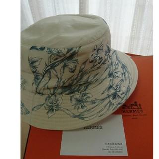 エルメス(Hermes)の【★貴重・超美品★】ボタニカル柄帽子(エルメス)(ハット)