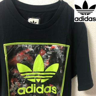 アディダス(adidas)のadidas メンズ Tシャツ S 夏服 古着 蛍光 派手柄 インスタ映え ☆(Tシャツ/カットソー(半袖/袖なし))