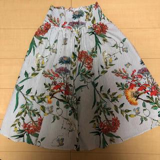ZARA - ZARA スカート  花柄ストライプ