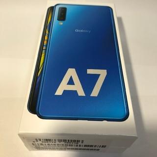 サムスン(SAMSUNG)の【新品未開封】Galaxy A7 ブルー(スマートフォン本体)