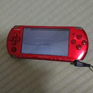 プレイステーションポータブル(PlayStation Portable)のpsp-3000 ラディアント・レッド(携帯用ゲーム機本体)
