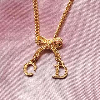 Dior - ディオールのゴールドリボンのネックレス