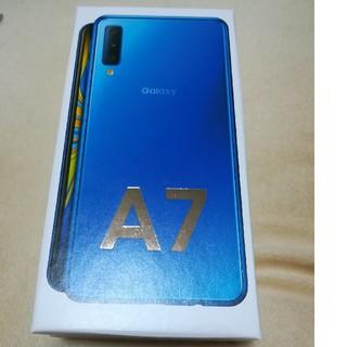 ギャラクシー(Galaxy)の「新品・未開封」Galaxy A7 ブルー 64GB(スマートフォン本体)