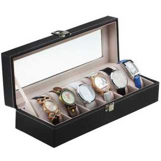 ☆SALE☆ 腕時計収納ケース 腕時計収納ボックス 6本用 ブラック(ケース/ボックス)
