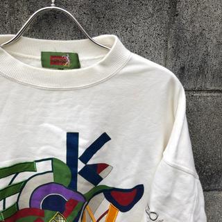ケンゾー(KENZO)のKENZO GOLF ケンゾーゴルフ ホワイト スウェット トレーナー 3 白(スウェット)