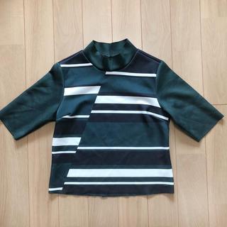 ザラ(ZARA)のZARA ザラ 七分袖 カットソー グリーン 緑(カットソー(半袖/袖なし))