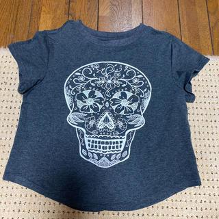 エイチアンドエム(H&M)のスカル柄チビT(Tシャツ(半袖/袖なし))