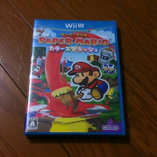 ウィーユー(Wii U)の新品未開封 WiiU ペーパーマリオ カラースプラッシュ(家庭用ゲームソフト)
