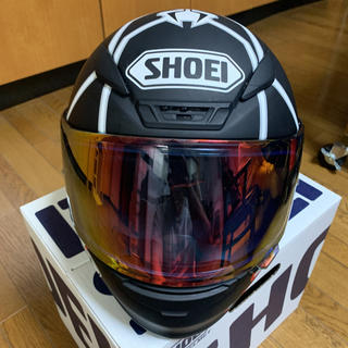 SHOEI Z-7 MARQUEZ BLK ANT size L(ヘルメット/シールド)