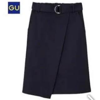 ジーユー(GU)のタイトスカート ラップスカート 新品(ひざ丈スカート)