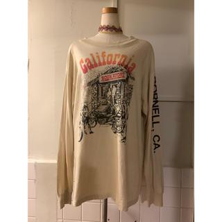 サンタモニカ(Santa Monica)の70s vintage アースカラー プリント ロンT(Tシャツ/カットソー(七分/長袖))