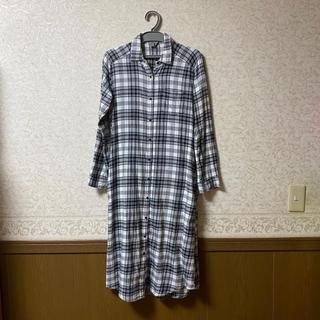 ジーユー(GU)のチェックシャツワンピース(ロングワンピース/マキシワンピース)