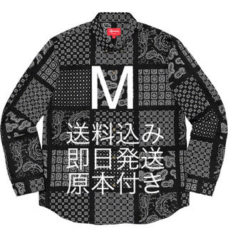 Supreme - M 送料込み 原本付き Supreme Paisley Grid Shirt