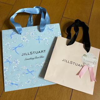 ジルスチュアート(JILLSTUART)の未使用 ショッパー 2枚セット サムシングピュアブルー ジルスチュアート 限定(ショップ袋)