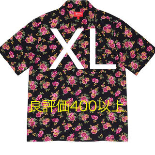 Supreme - 【XL】Supreme Floral Rayon S/S Shirt Black