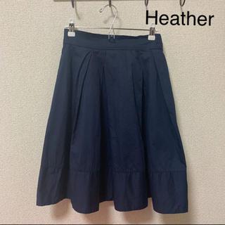 heather - 訳あり★heather プリーツスカート 紺色 Sサイズ