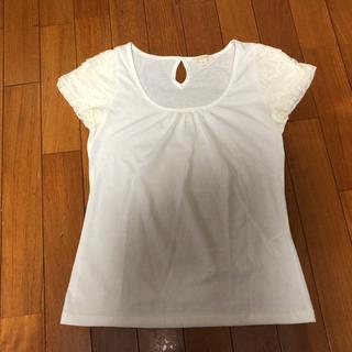 プーラフリーム(pour la frime)の美品 袖フリル Tシャツ(Tシャツ(半袖/袖なし))
