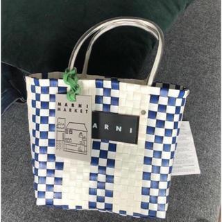 マルニ(Marni)のMARNI ピクニックバック ホワイト(かごバッグ/ストローバッグ)