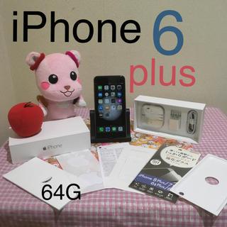 アイフォーン(iPhone)のiPhone6 Plus 64G 美品☆(スマートフォン本体)