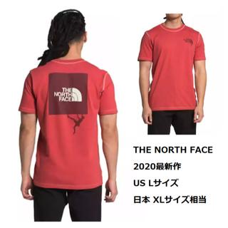 ザノースフェイス(THE NORTH FACE)の【新品】ノースフェイス メンズ Tシャツ Lサイズ レッド クライミング(Tシャツ/カットソー(半袖/袖なし))