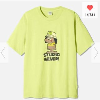 ジーユー(GU)の【新品未使用】 GU × STUDIO SEVEN ビッグT グリーン XXL(Tシャツ/カットソー(半袖/袖なし))