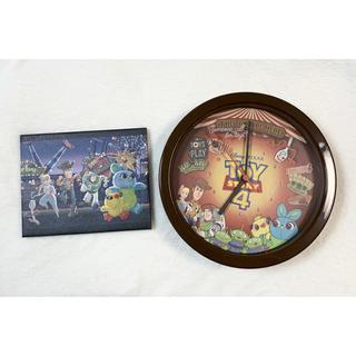 ディズニー(Disney)のトイストーリー4 掛け時計 キャンバスボード(キャラクターグッズ)