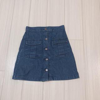 ジーユー(GU)のGU デニムスカートS ※限定セール(ミニスカート)