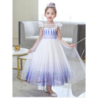 【新品】アナ雪 2エルサ ドレス 半袖 110センチ(ドレス/フォーマル)