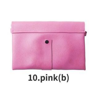 ⑤新品 送料無料◇ユニセックス2wayクラッチバッグ 色:pink(b)ピンク(クラッチバッグ)
