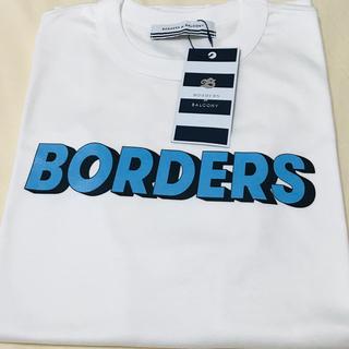 ドゥロワー(Drawer)のBORDERS TEE  ブルーロゴ Mサイズ(Tシャツ/カットソー(半袖/袖なし))