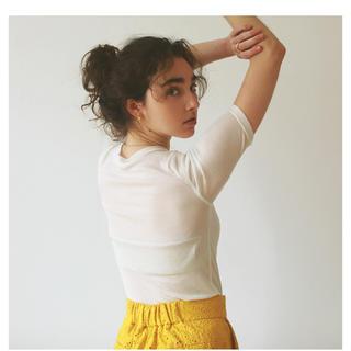 シールームリン(SeaRoomlynn)のエアリーFitハーフカットTシャツ  ホワイト(Tシャツ/カットソー(半袖/袖なし))