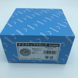 CASIO - CASIO デスクトップアナログクロック スヌーズアラーム付き 丸型 ホワイト